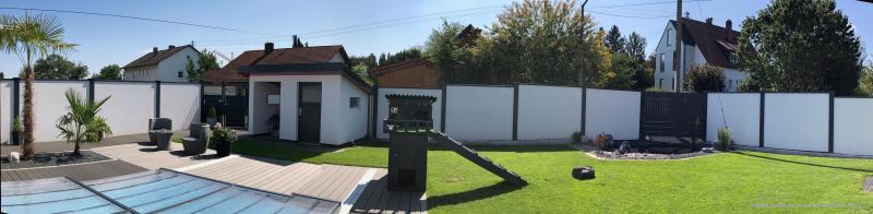 Modulare-Wandsysteme-Panorama-Sichtschutz-Pool-WPC-Terrasse-Doppelstabmatte-Gartenhaus