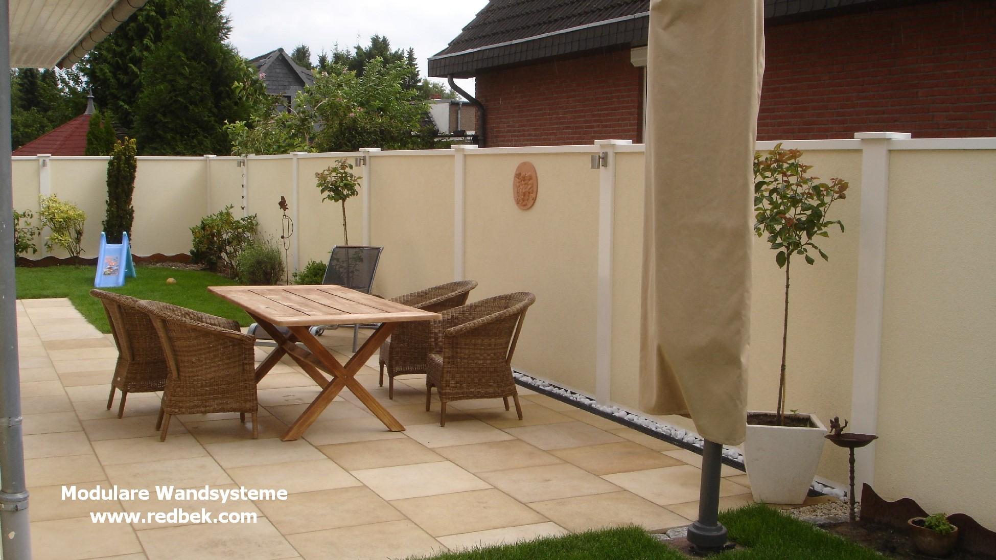 Sichtschutz Terrasse Mauer Möbel Ideen und Home Design Inspiration